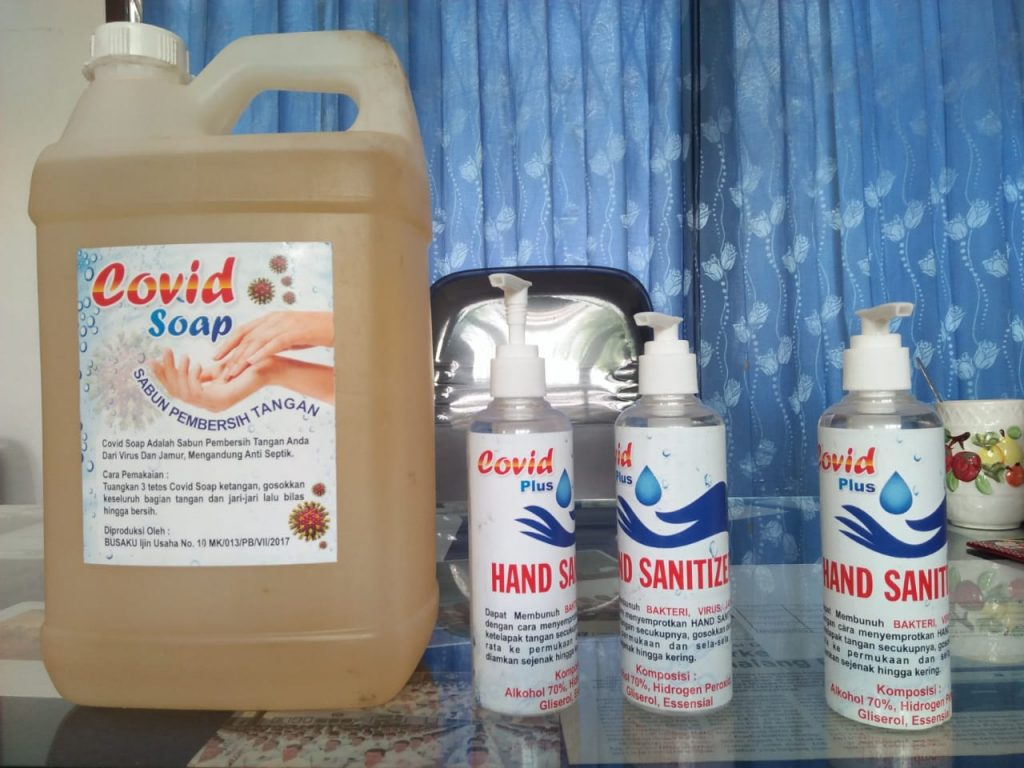 Hand Wash Covid Soap dan Hand Sanitizer Covid Plus Busaku